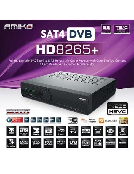 amiko 8265 combo dvb s s2 t2 c hevc