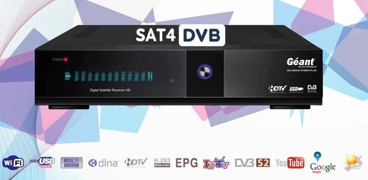 SAT4DvB | Nouvelle mise à jour avec la réception Géant