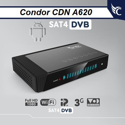 Mise à jourCondor A620 HD v3.4.0 19-09-2019
