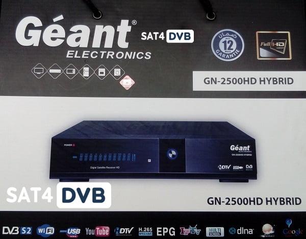 Dernière mise à jour GN-2500 HD HYBRID 19-01-2020 V2.41