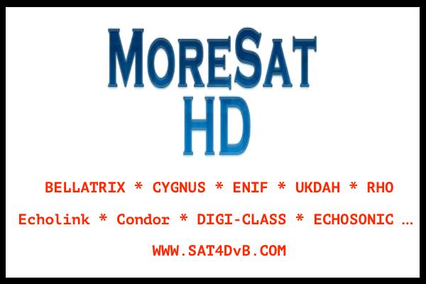 Nouvelle Mises à jour MoreSat HD 15-01-2021