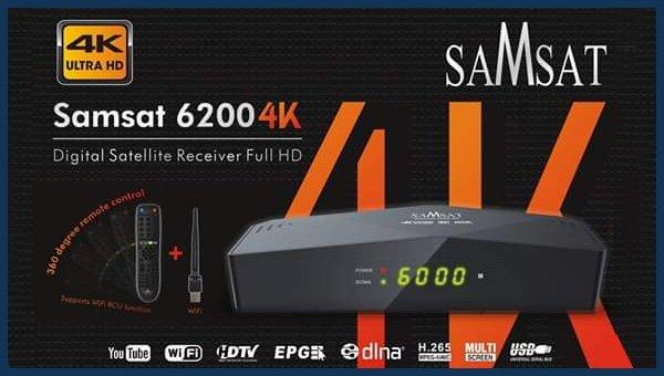Nouvelle Mise à jour SAMSAT 6200 4K 18-02-2020