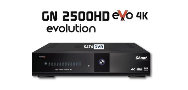 Mise à jour GN-2500 EVO 4k 27-06-2021 v3.1.7